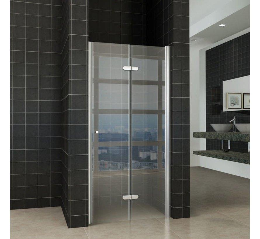 Fold vouwbare douchedeur nisdeur 80x200 cm rechts 8 mm glas