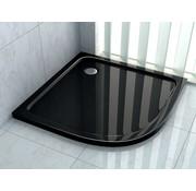 Rheiner douchebak 80x80x5 cm kwartrond zwart