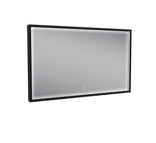 Wiesbaden Rechthoek condensvrije & verwarming LED-Spiegel 100x60 cm mat zwart