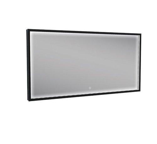 Wiesbaden Rechthoek condensvrije & verwarming LED-Spiegel 120x60 cm mat zwart