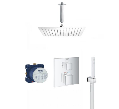 Grohe Grohtherm Cube inbouw doucheset - 30 cm vierkant