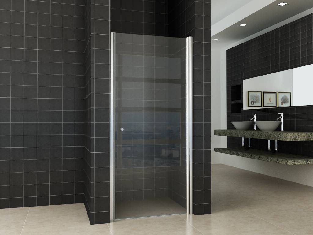 Een grote douchedeur 100 cm in huis halen