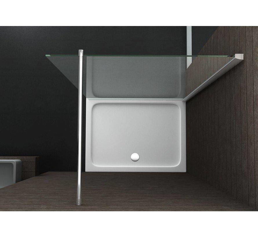 Aqua-Extra Inloopdouche 118x220 cm 10 mm helder glas