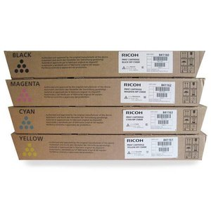 RICOH MP C2800 MP C3300 compatibel tonerset Black Cyan Magenta en Yellow