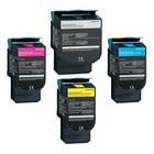 Toners voor Lexmark C540 C543 C544 C546 C548 Zwart cyan yellow magenta