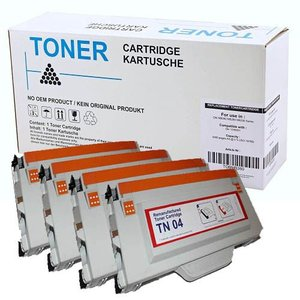 Set 4X alternatief Toner voor Brother Tn04 Hl2700C Mfc9420Cn