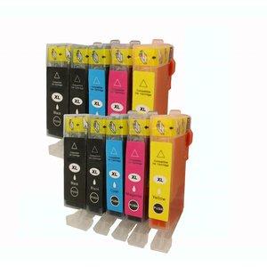 Set 10x inktpatroon voor Canon PGI520 CLI521