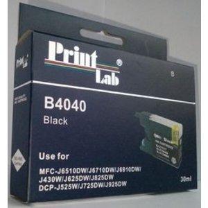 Brother LC1240 1280 BLACK PRINTLAB B4040 30ml compatibel XL