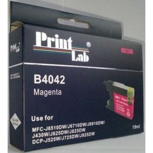 Brother LC1240 1280 MAGENTA PRINTLAB B4042 19ml XL compatibel