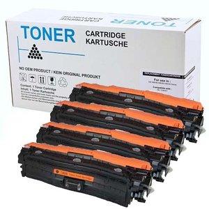 Set 4X alternatief Toner voor Hp 650A Color Laserjet Enterprise Cp5500