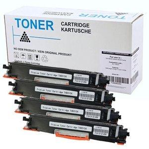 Set 4X alternatief Toner voor Hp 126A Canon 729 Color Laserjet Cp1025