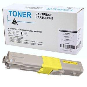 alternatief Toner voor Oki C301 C321 geel