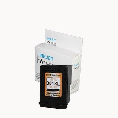 alternatief inkt cartridgee voor Hp 301Xl zwart met niveau-indicator wit Label