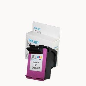 alternatief inkt cartridgee voor Hp 301Xl gekleurd met niveau-indicator wit Label