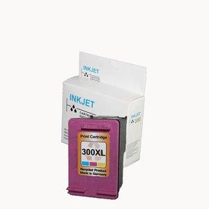 alternatief inkt cartridgee voor Hp 300Xl gekleurd met niveau-indicator wit Label