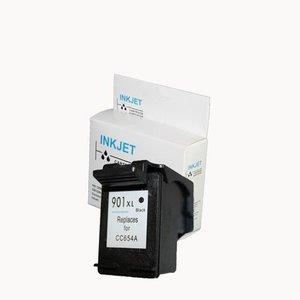 alternatief inkt cartridgee voor Hp 901Xl zwart met niveau-indicator wit Label