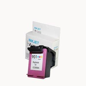 alternatief inkt cartridgee voor Hp 901Xl gekleurd met niveau-indicator wit Label
