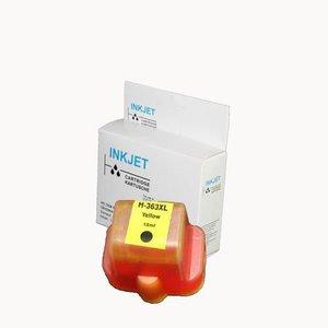 alternatief inkt cartridgee voor Hp C8773E 02 363 geel wit Label