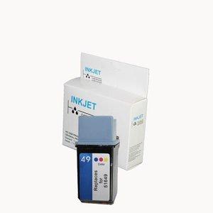 inkt cartridge compatibel voor Hp 51649A Color Nr.49 wit Label