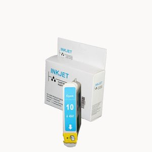 Inkjet cartridge Compatible Hp 10 cyan wit Label