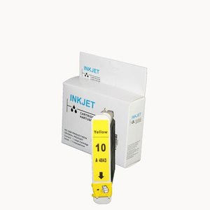 inkt cartridge compatibel voor Hp 10 geel wit Label