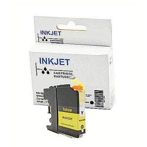 alternatief inkt cartridge voor Brother Lc121xl  Lc123xl  geel (met chip)