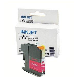 alternatief inkt cartridge voor Brother Lc121xl  Lc123xl  magenta (met chip)