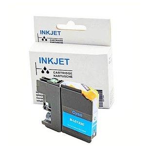 alternatief inkt cartridge voor Brother Lc121xl  Lc123xl  cyan (met chip)