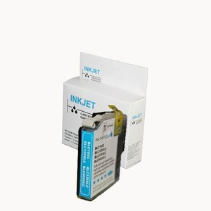 Xxl alternatief inkt cartridge voor Brother Lc125Xl cyan (met chip) wit Label