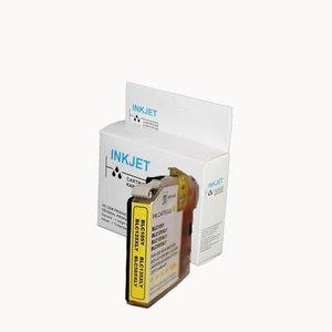 Xxl alternatief inkt cartridge voor Brother Lc125Xl geel (met chip) wit Label