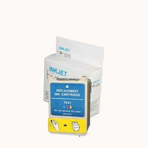 alternatief inkt cartridge compatibel voor Epson T041 gekleurd wit Label
