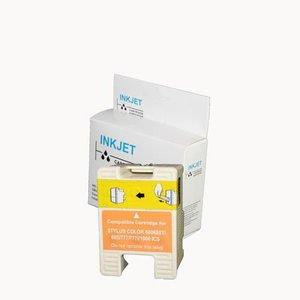 alternatief inkt cartridge compatibel voor Epson T018 gekleurd wit Label