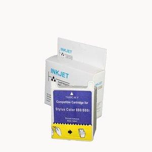 2 stuks alternatief inkt cartridges compatibel voor Epson T020 gekleurd wit Label