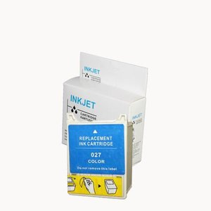alternatief inkt cartridge compatibel voor Epson T027 gekleurd wit Label