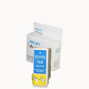 alternatief inkt cartridge compatibel voor Epson T036 zwart wit Label
