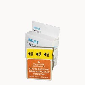 alternatief inkt cartridge compatibel voor Epson T037 gekleurd wit Label
