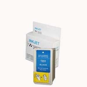 2 stuks alternatief inkt cartridge compatibel voor Epson To511, S020108/S020189 zwart wit Label