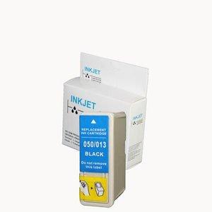 2 stuks alternatief inkt cartridge compatibel voor Epson To501, S020093/S020187/T013 zwart wit Label