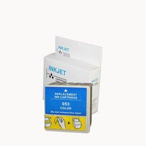 2 stuks alternatief inkt cartridge compatibel voor Epson T053W S020110/S020193 gekleurd wit Label