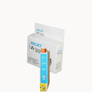 alternatief inkt cartridge compatibel voor Epson T0542 cyan wit Label
