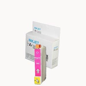 alternatief inkt cartridge compatibel voor Epson T0543 magenta wit Label