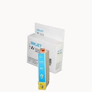 2 stuks alternatief inkt cartridge compatibel voor Epson T0552 cyan wit Label