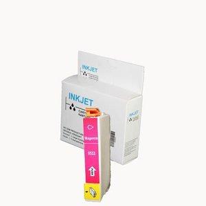 2 stuks alternatief inkt cartridge compatibel voor Epson T0553 magenta wit Label