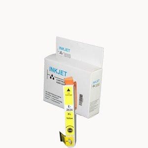 alternatief inkt cartridge voor Epson 27 27Xl geel wit Label