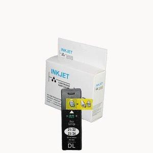 alternatief inkt cartridge voor Dell 21 zwart wit Label