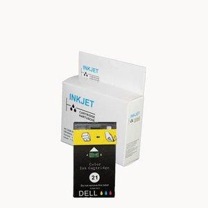 alternatief inkt cartridge voor Dell 21 gekleurd wit Label