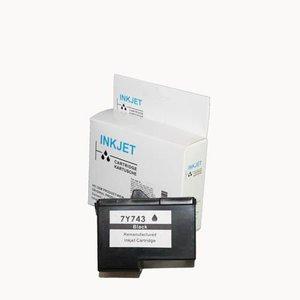 alternatief inkt cartridgee voor Dell 7Y743 zwart wit Label