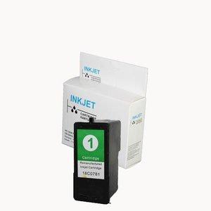alternatief inkt cartridge voor Lexmark 1 (18C0781) Colour wit Label
