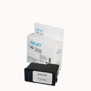 alternatief inkt cartridge voor Lexmark 33 Colour wit Label