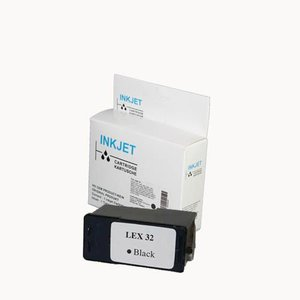 alternatief inkt cartridge voor Lexmark 32 zwart wit Label